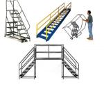 Sử dụng xe thang công nghiệp cho kho hàng