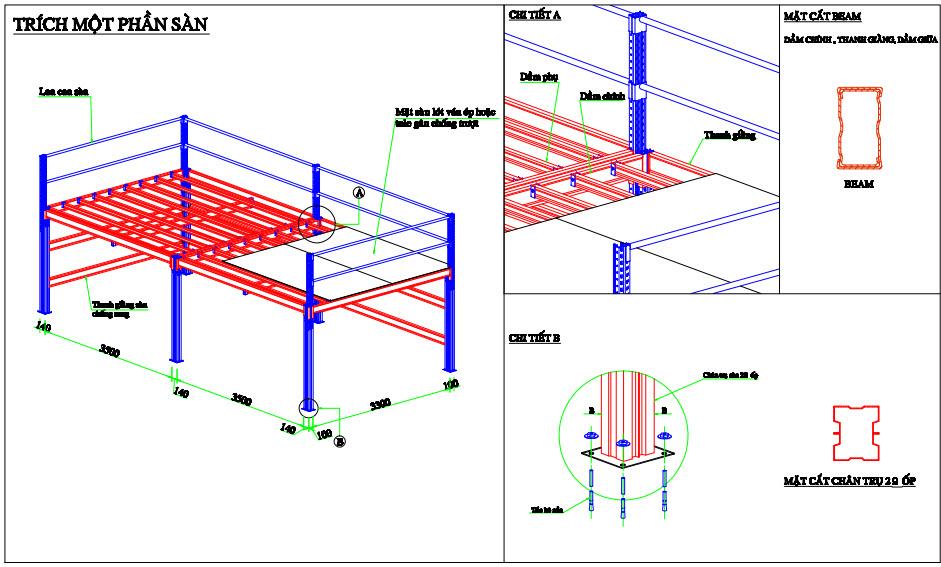 Mô hình kệ sàn mezzanine
