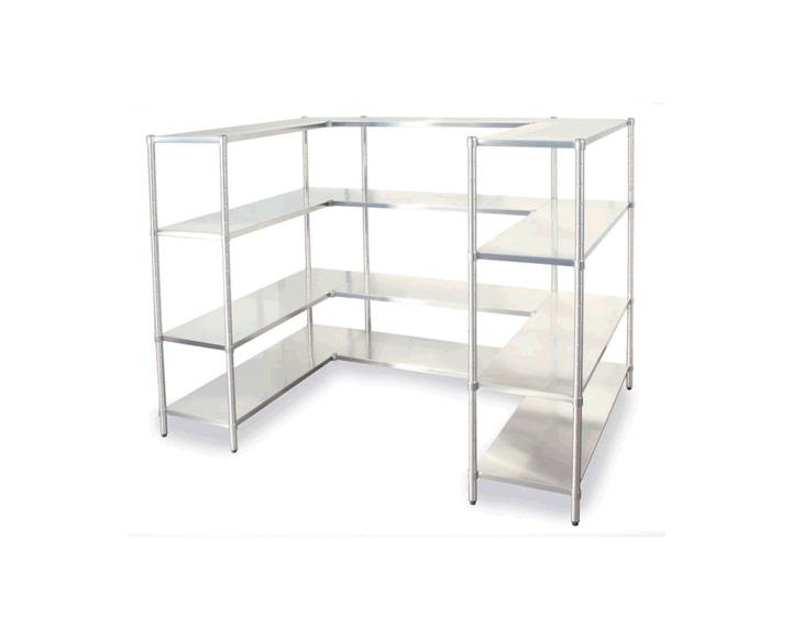 Inox shelves navavina for Table armoire inox